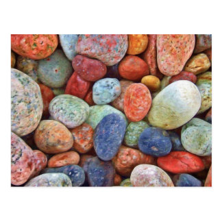 Colorful stones postcard