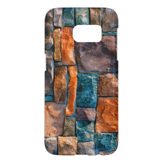 colorful stones wall samsung galaxy s7 case