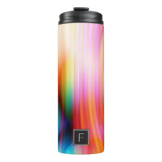 Colorful Streaked Abstract Monogram | Tumbler