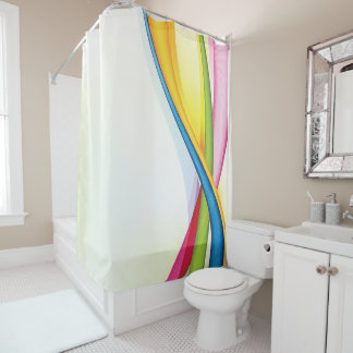 Colorful Streamers Shower Curtain