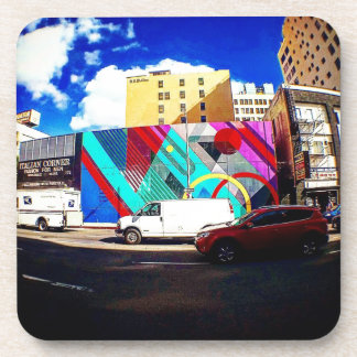 Colorful Street Art Coaster