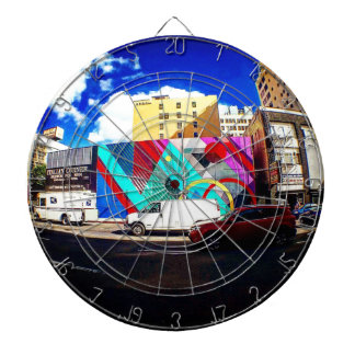Colorful Street Art Dartboard