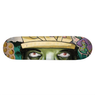 Colorful Street Art Eyes Skateboard