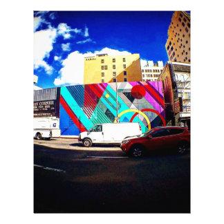 Colorful Street Art Letterhead
