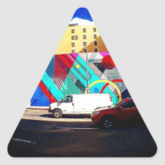 Colorful Street Art Triangle Sticker