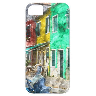 Colorful street in Burano near Venice Italy iPhone 5 Covers