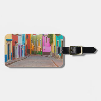 Colorful street scene luggage tag
