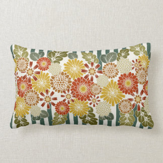 Colorful Stripe floral mixed print pillow