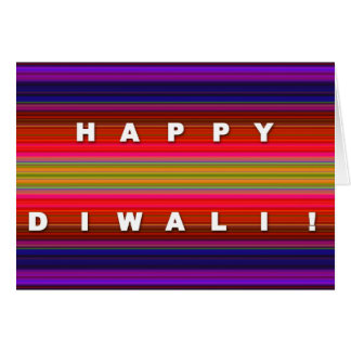 Colorful Striped Diwali Card