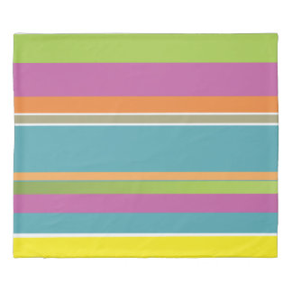 Colorful striped duvet cover