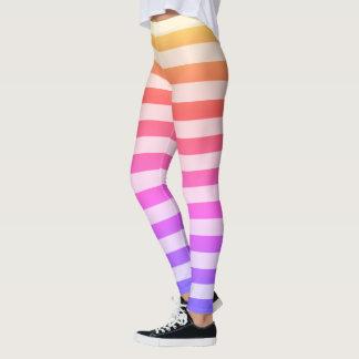 Colorful Striped Pattern Leggings