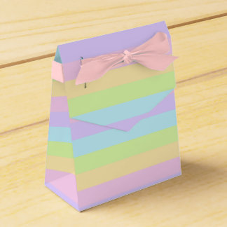 Colorful Striped Pattern Pastel Favor Box