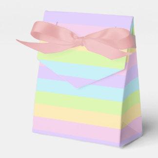 Colorful Striped Pattern Pastel Favor Box
