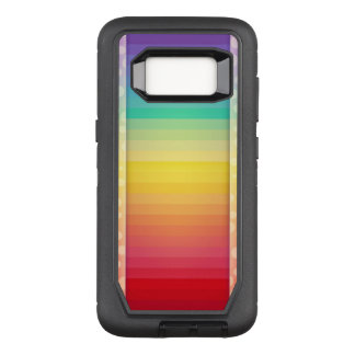Colorful Striped Rainbow Pattern OtterBox Defender Samsung Galaxy S8 Case