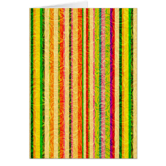 Colorful Stripes and Curl Pattern Card