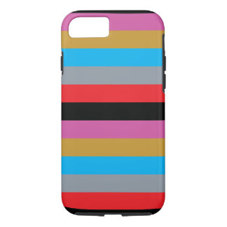 Colorful Stripes Black Pink Blue Gold Gray Red iPhone 8/7 Case
