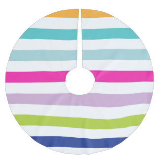 Colorful Stripes Brushed Polyester Tree Skirt