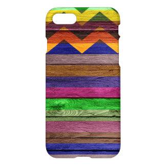 Colorful Stripes Chevron Pattern Modern Wood #3 iPhone 7 Case