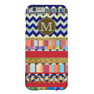 colorful stripes & chevron personalized barely there iPhone 6 case