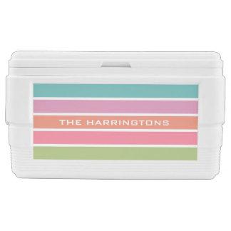 Colorful Stripes custom name cooler