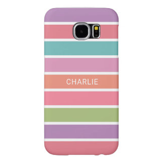 Colorful Stripes custom name phone cases
