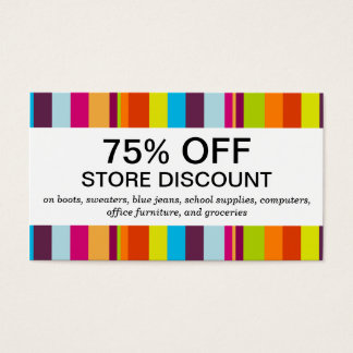 Colorful Stripes (discount card) Business Card