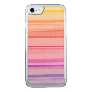 Colorful Stripes Lines Carved iPhone 8/7 Case