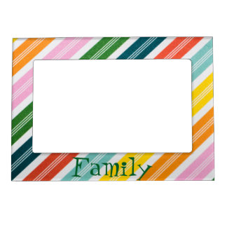 Colorful Stripes Magnetic Photo Frame