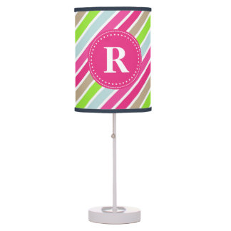 Colorful Stripes Monogram Decorative Lamp
