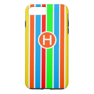 Colorful Stripes Monogram iPhone 7 Plus Case