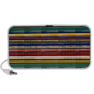 Colorful Stripes Mosiac TEMPLATE add TXT IMG gifts Travel Speaker