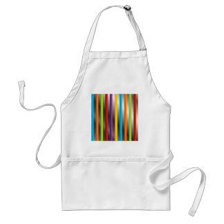 Colorful stripes on silver standard apron