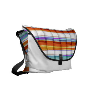 Colorful stripes painting art graphic design messenger bags