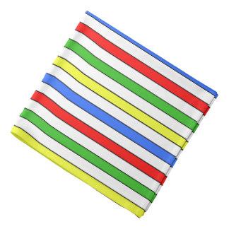 Colorful Stripes Pattern Bandanna