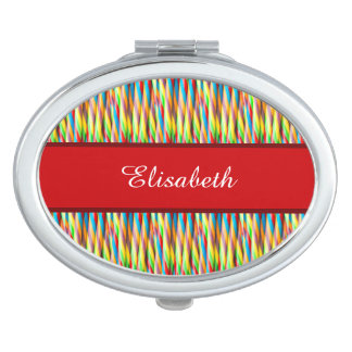 Colorful Stripes Pattern Compact Mirrors