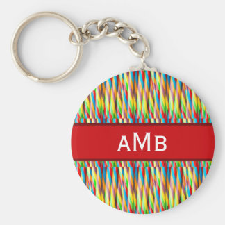 Colorful Stripes Pattern Keychain