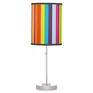Colorful Stripes Table Lamp