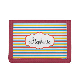 Colorful Stripes Trifold Wallets