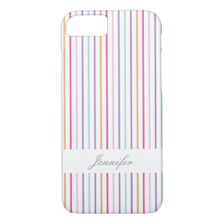 Colorful Stripes with Name Case