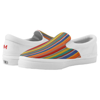 Colorful Stripes Zipz Slip On Shoe