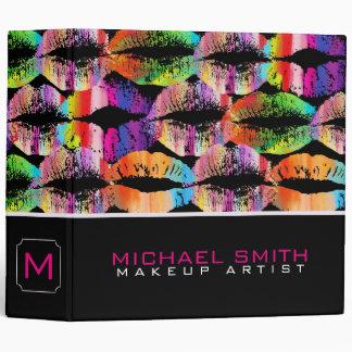 Colorful Stylish Lips Elegant Professional Binder