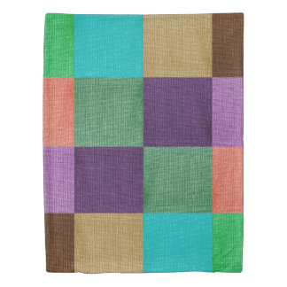 Colorful Stylish Patchwork Duvet Cover