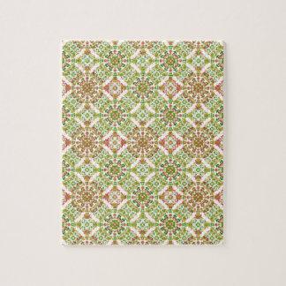 Colorful Stylized Floral Boho Jigsaw Puzzle