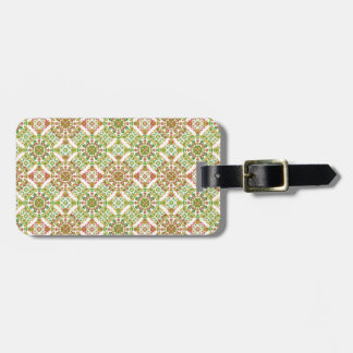 Colorful Stylized Floral Boho Luggage Tag