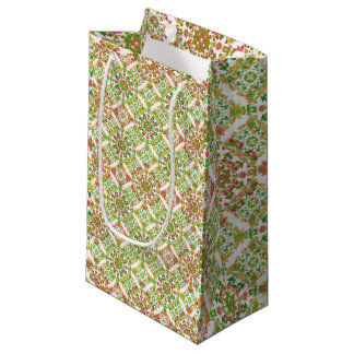 Colorful Stylized Floral Boho Small Gift Bag