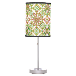 Colorful Stylized Floral Boho Table Lamp