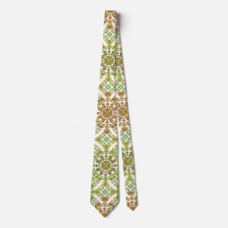 Colorful Stylized Floral Boho Tie