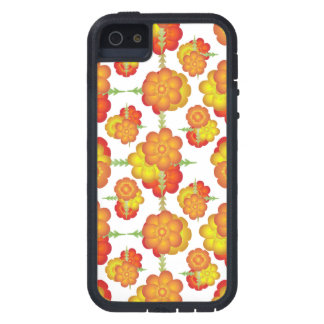 Colorful Stylized Floral Pattern iPhone 5 Case