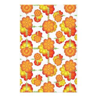 Colorful Stylized Floral Pattern Stationery