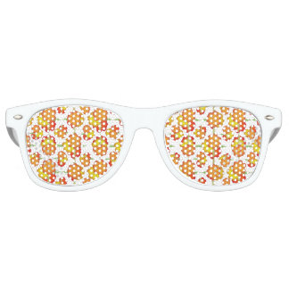 Colorful Stylized Floral Pattern Sunglasses